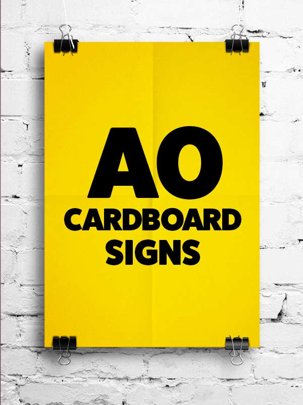 New A0 Cardboard Signs Printing In Tallaght Dublin Free Delivery